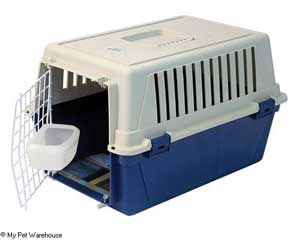 Typical cat carrier (from My Pet Warehouse)
